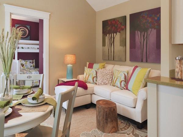 Biến phòng khách lãng mạng với thiên đường cây xanh