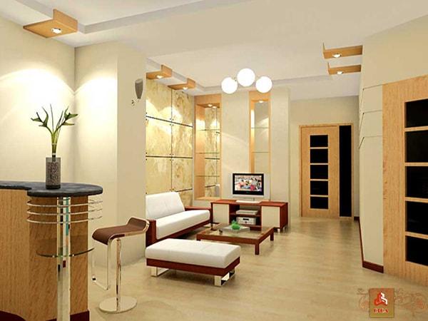 Thiết kế không gian nội thất nhà lớn giữa phố nhỏ