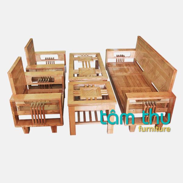 Chọn sa lông, sofa gỗ tự nhiên phù hợp với phong cách phòng khách