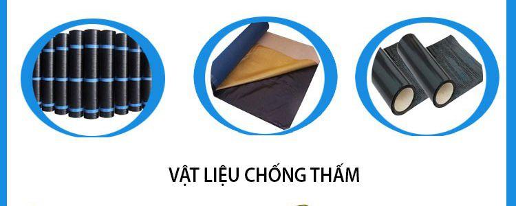 Sử dụng vật liệu chống thấm