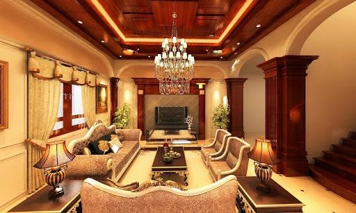 Nội thất nhà đẹp sang trọng với lối thiết kế cổ điển