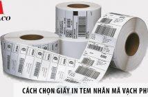 Cách chọn giấy in tem nhãn mã vạch phù hợp